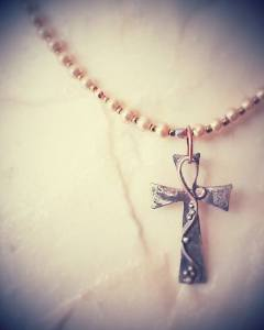 cross with pearls