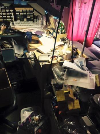messy workbench